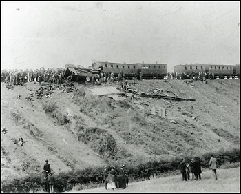 Wreckage from the Armagh Rail Disaster 1889