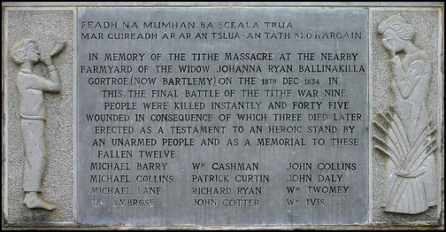 Placque to those Massacred at Gortroe
